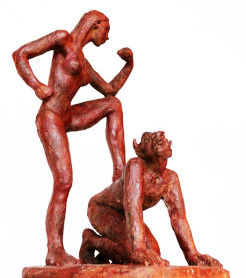 sculpture-marie-therese-tsalapatanis-Ariane & le Minotaure