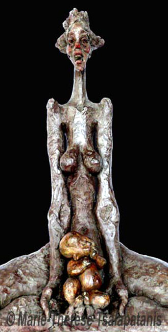 sculpture-marie-therese-tsalapatanis-maternité