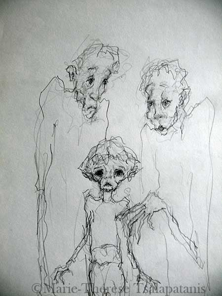 dessins-sculpture-marie-therese-tsalapatanis-famille