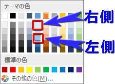 空の放射グラデーション分岐点の色