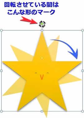 星の図形を回転