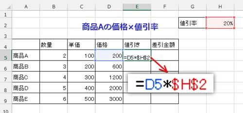 数式を絶対参照に修正