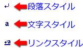 スタイルの種類を表す記号