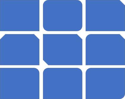 四角形の描画リスト