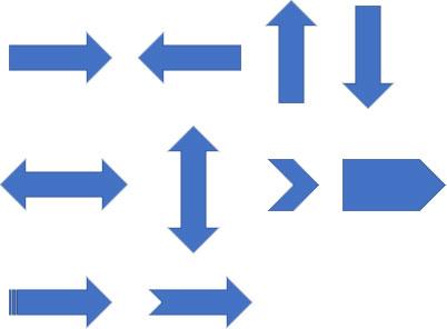直線の矢印