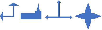 交差した矢印の変形例