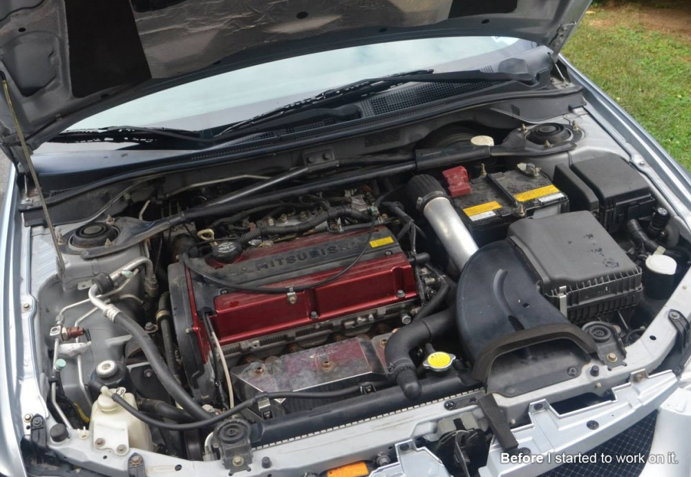medium resolution of before after of the engine bay