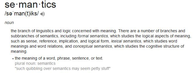 Definition of Semantics