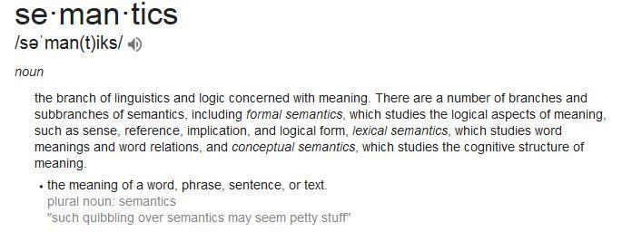 Definition of Semantics