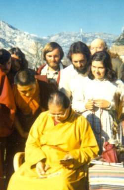 With Dudjom Rinpoche - 1976