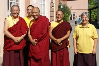 With RIngu Tulku, Khenpo Gyurme Tsultrim and Khenpo Tseten