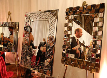 Beautifully presented items at a past Mirror Ball, a Look Good Feel Better fundraiser