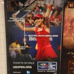for u.s. open advertising, playing up the fashion