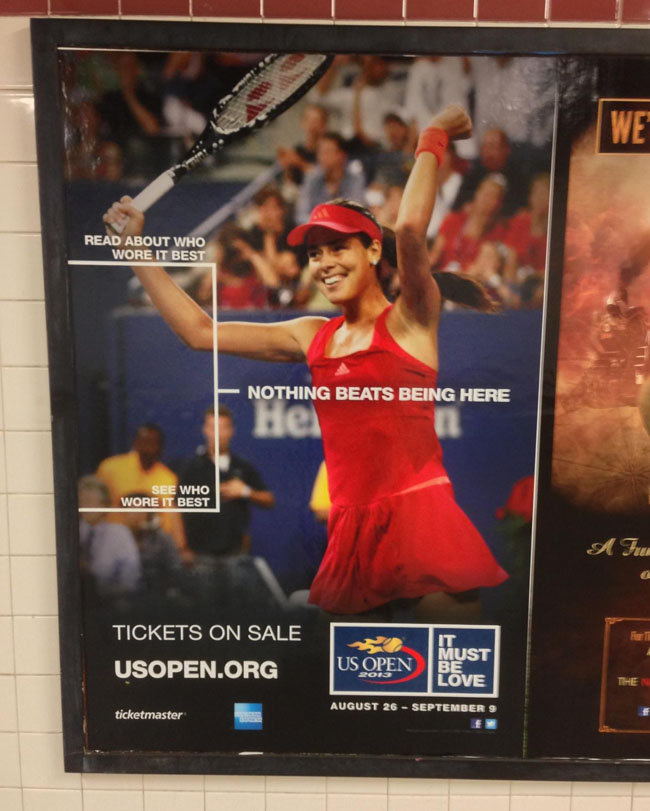 "U.S. Open Advertising 2013 ""Nothing Beats Being Here"""