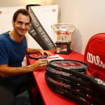 Roger Federer Honored by Wilson with Commemorative 18 Grand Slam Tennis Racket