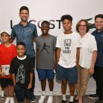 lacoste welcomed novak djokovic at Macy's ahead of US Open