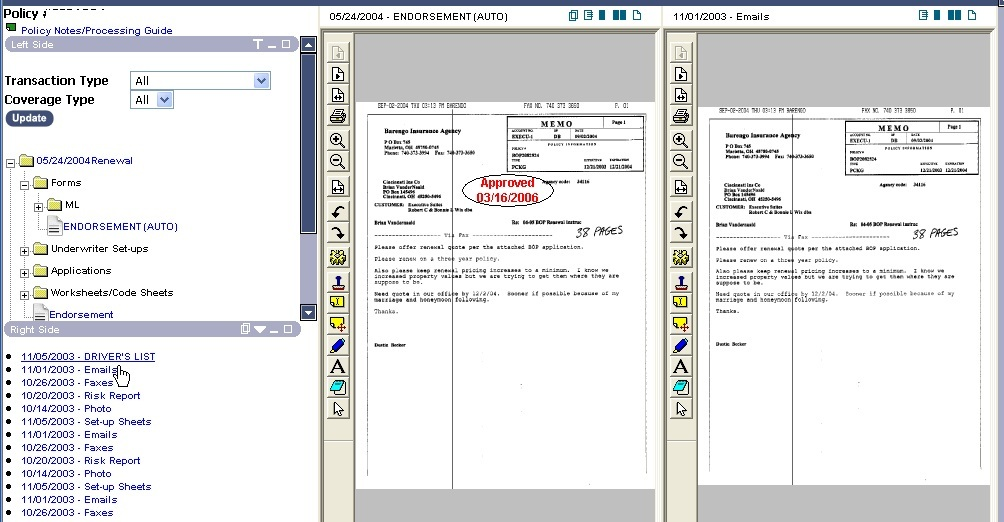 Dual Document View