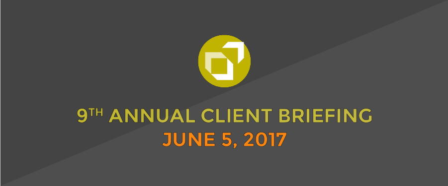 2017 TSG CLIENT BRIEFING