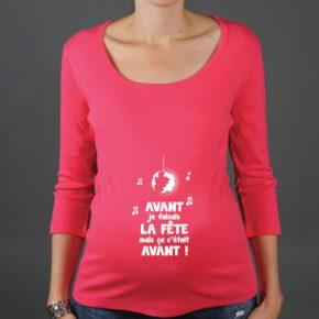 tshirt grossesse avec message