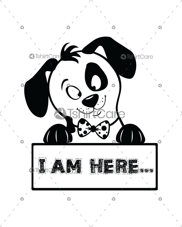 dog-funny-face-i-am-here-t-shirt-design-humor-dog-tshirts