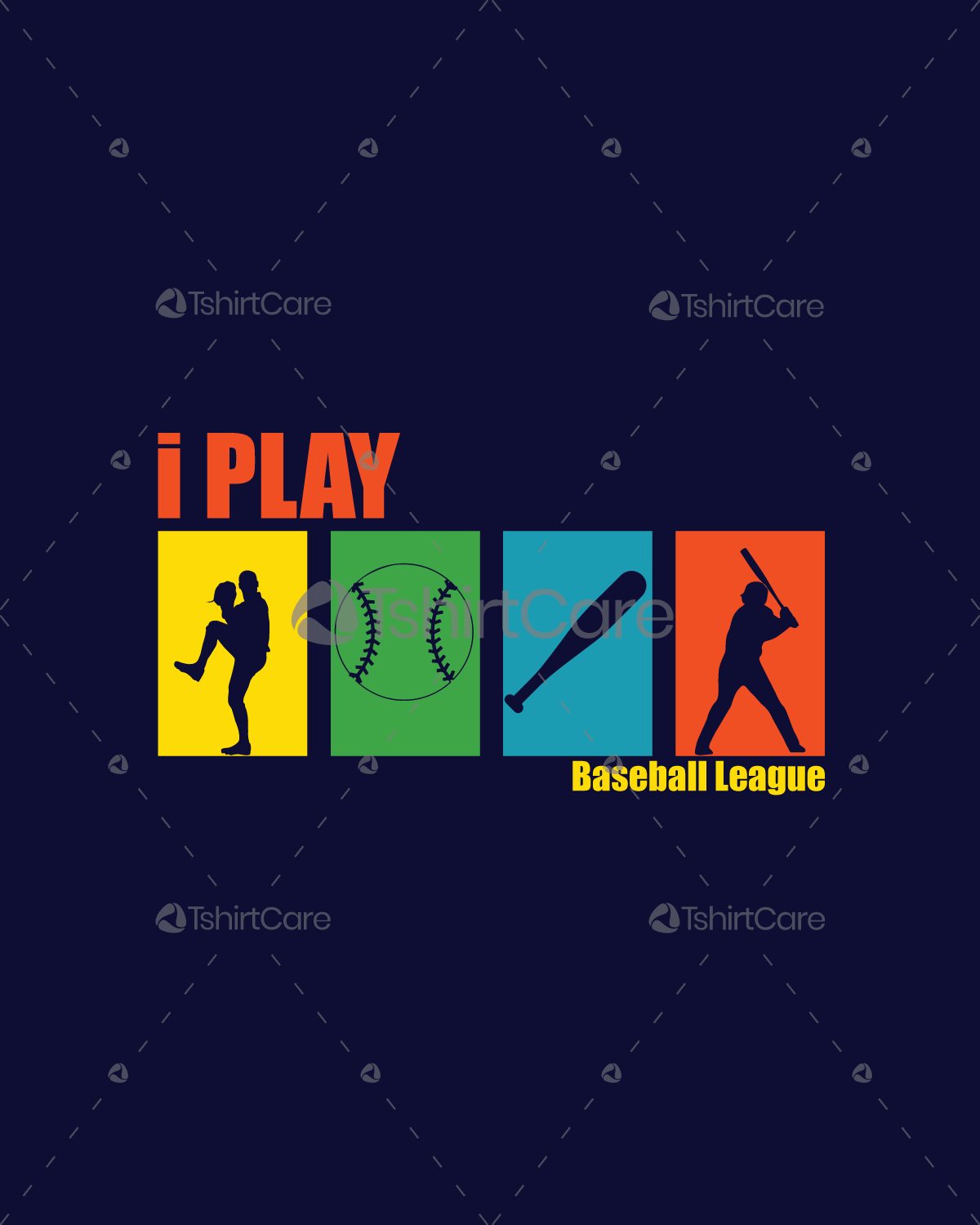I Play Baseball League T Shirt Design Team Shirt Designs For Custom