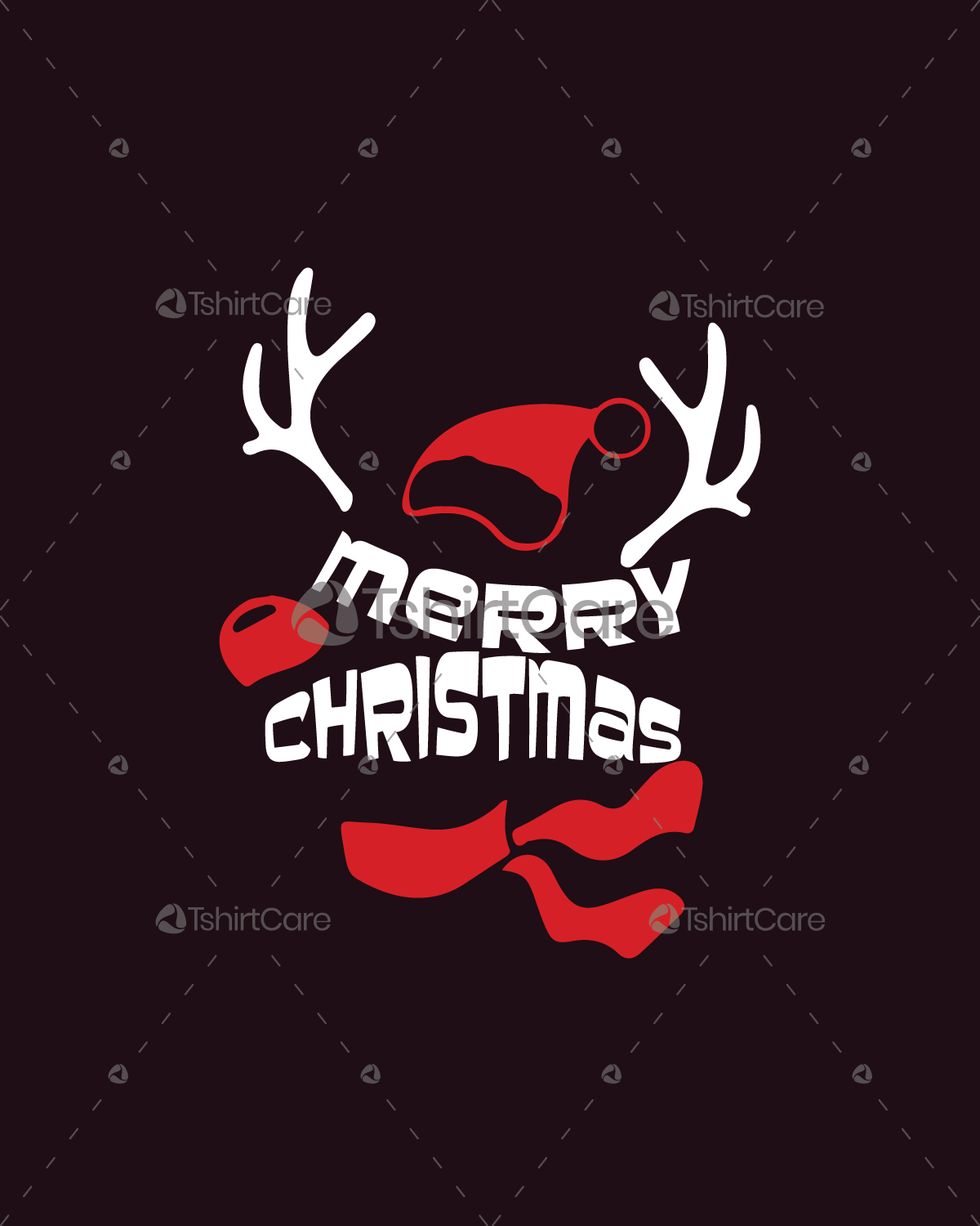Merry Christmas deer T shirt Design Holiday event T-shirt Design for ...
