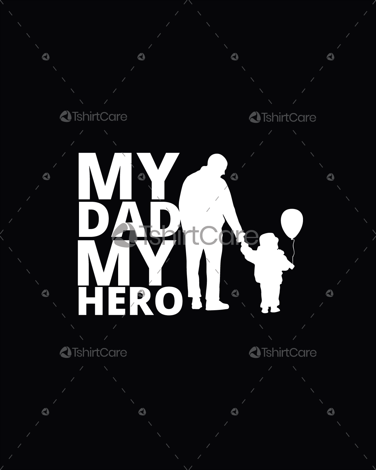 My Dad My Hero T Shirt Design Father Day T Shirt For Boys Girls