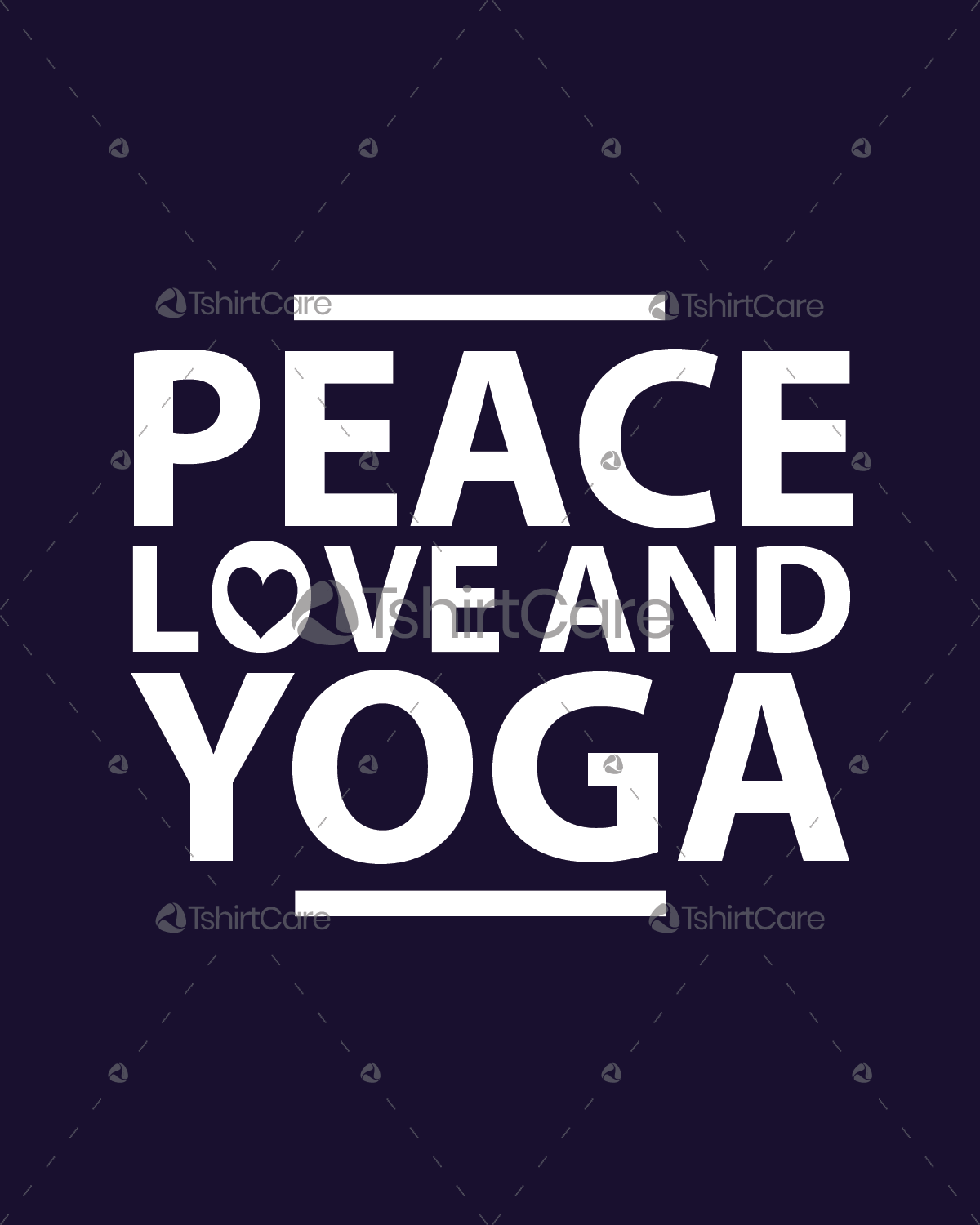 Awesome Peace Love And Yoga T Shirt Design Yoga