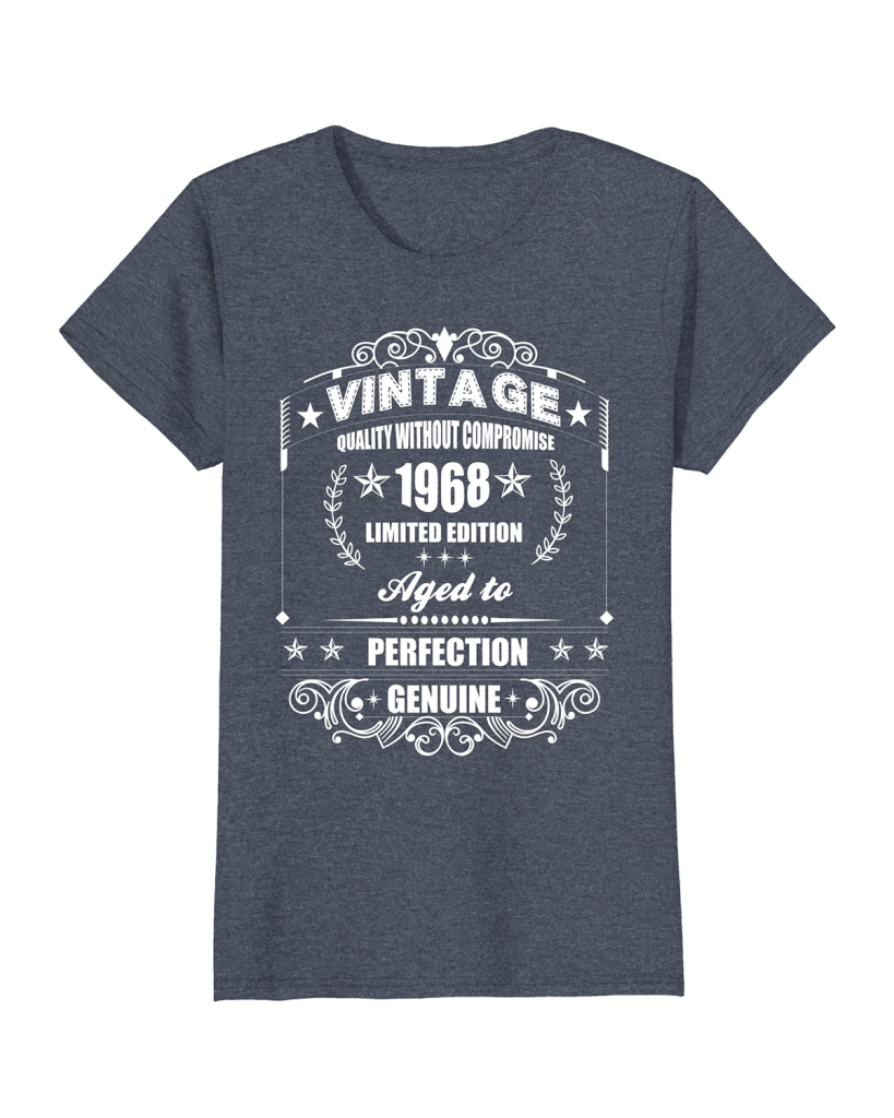 62f557bd Vintage Aged 1968 Gifts 50th Birthday T-shirt - Amazon Prime Product ...