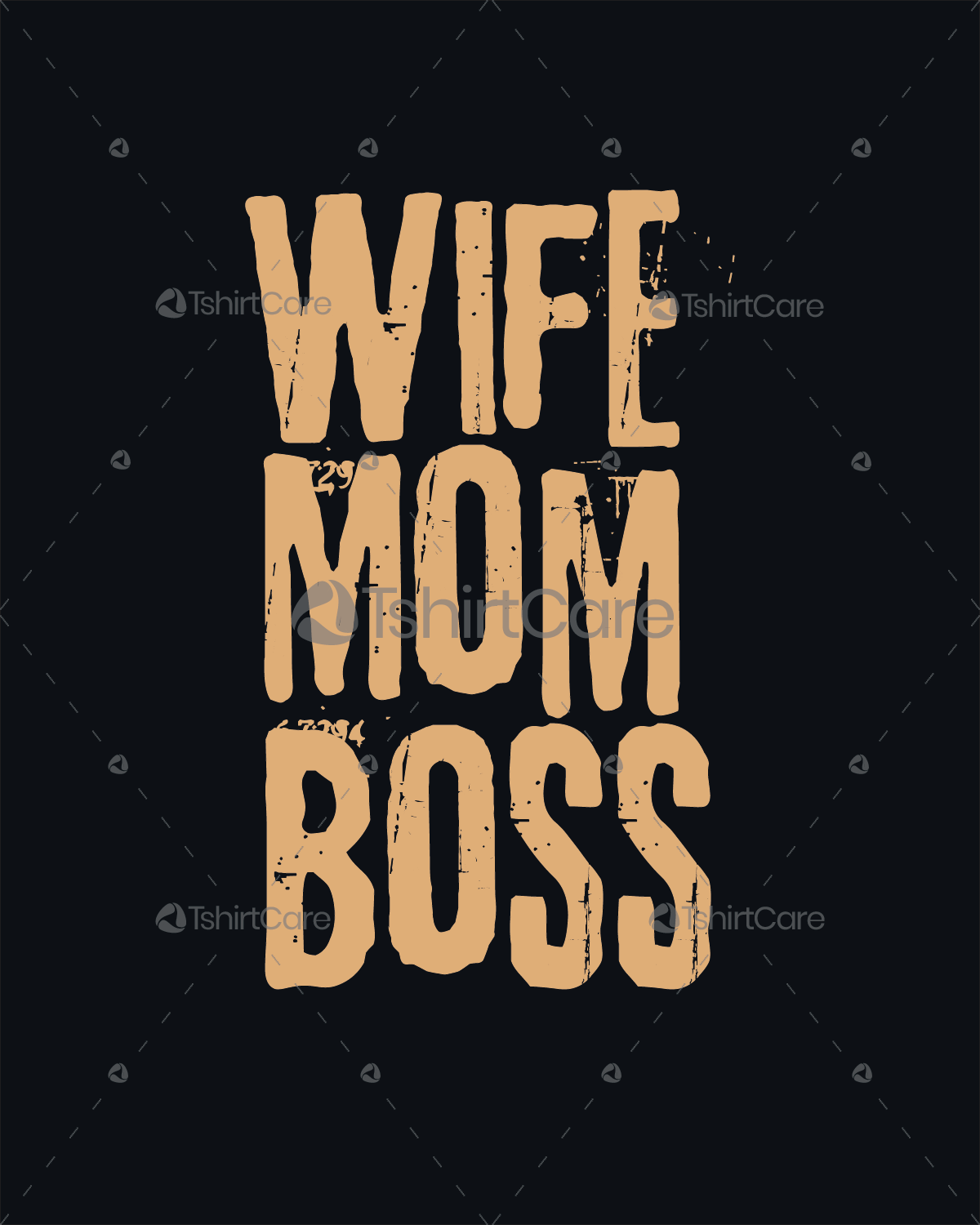 Wife mom boss T shirt Design Happy mothers day T-shirts Design for ... 60e8f4e07317