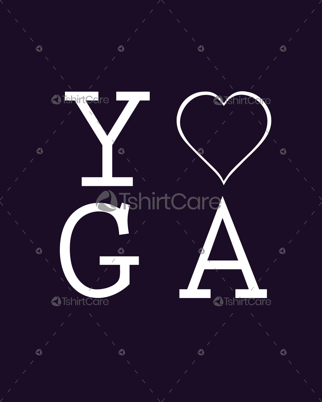 9bc4b5cda437 Yoga T shirt Design Custom Yoga Typography T-Shirts for Men's ...