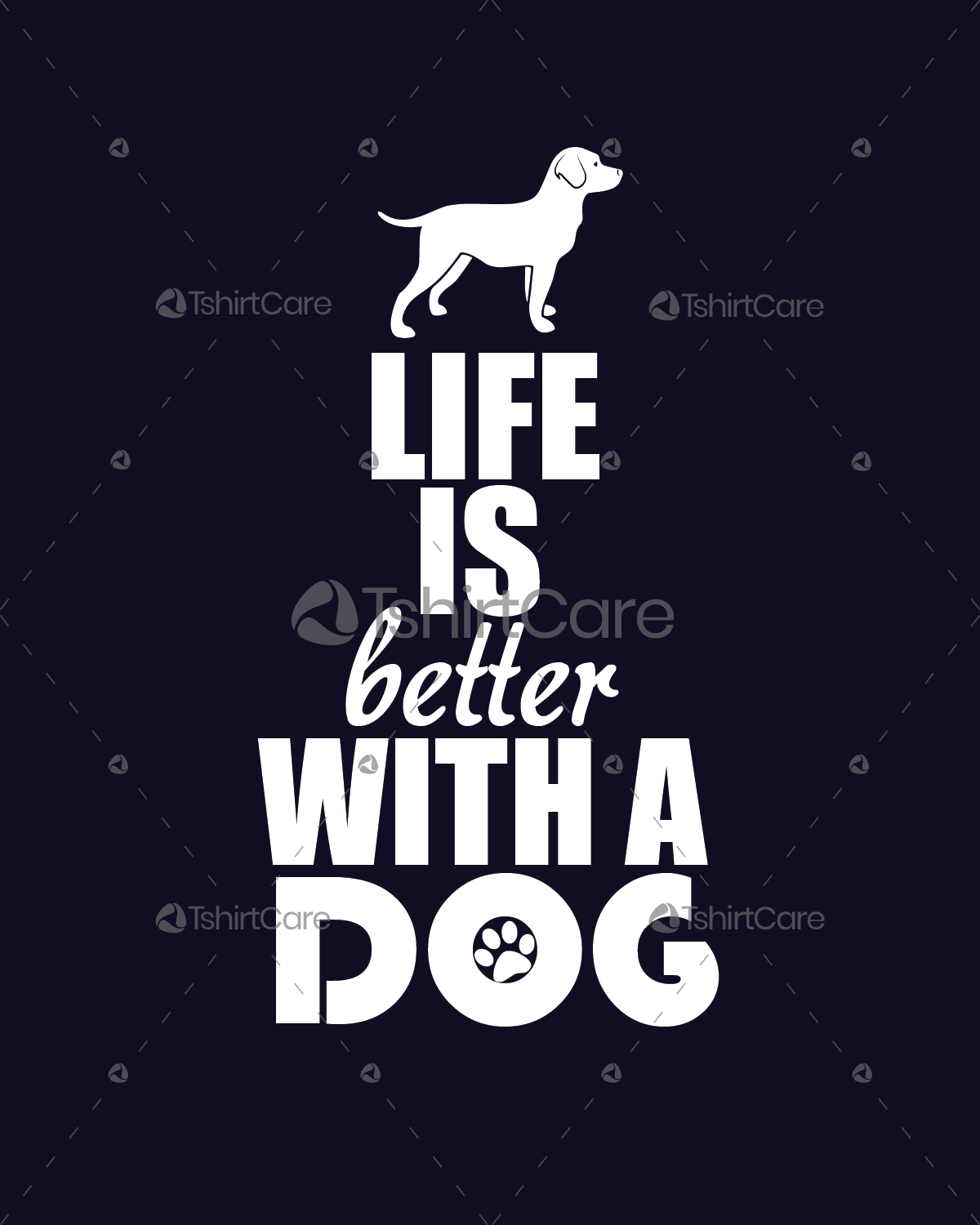 aa1ad62d08498 Life is better with a dog T-Shirt Design Dog lovers Tee Shirts Gift for  Men's & Women's - TshirtCare