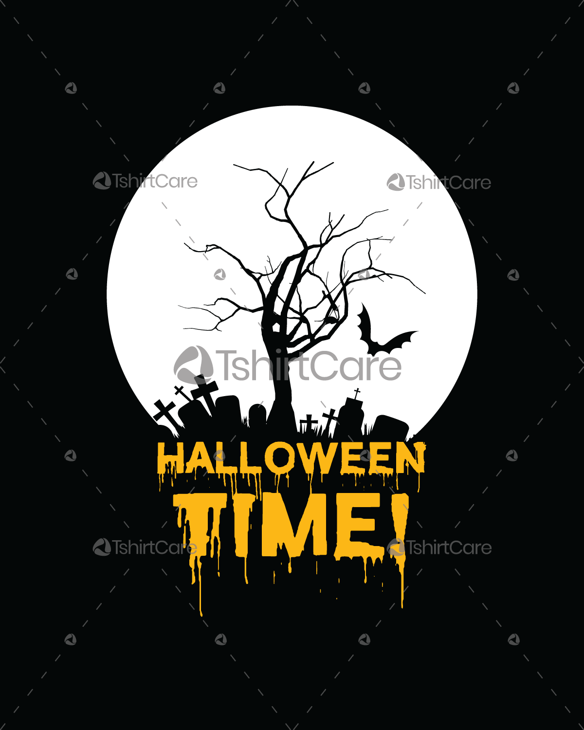 halloween time tree t shirt design event t shirts tops for men s rh tshirtcare com halloween t shirt design halloween tee shirt designs