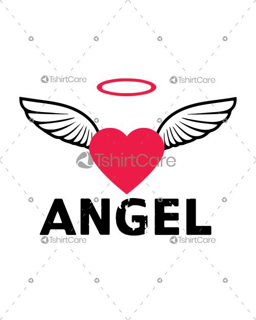 Angel Happy Valentine's Day T Shirt Design for Women & Men