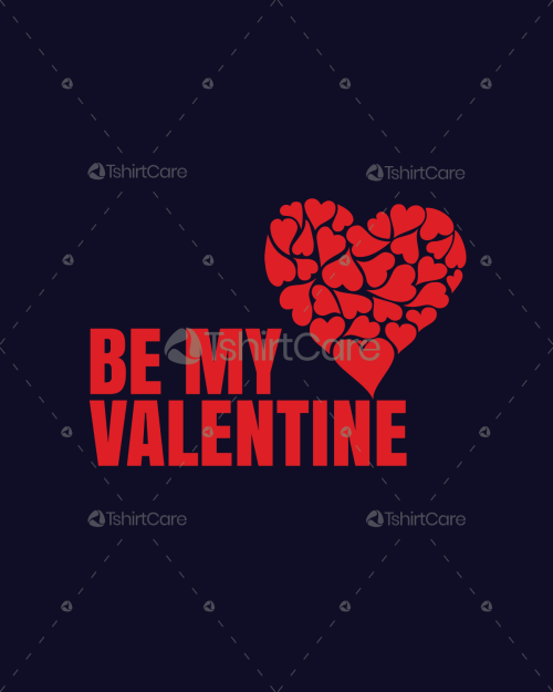 Be my Valentine T shirt Love Heart Tee Tshirtcare