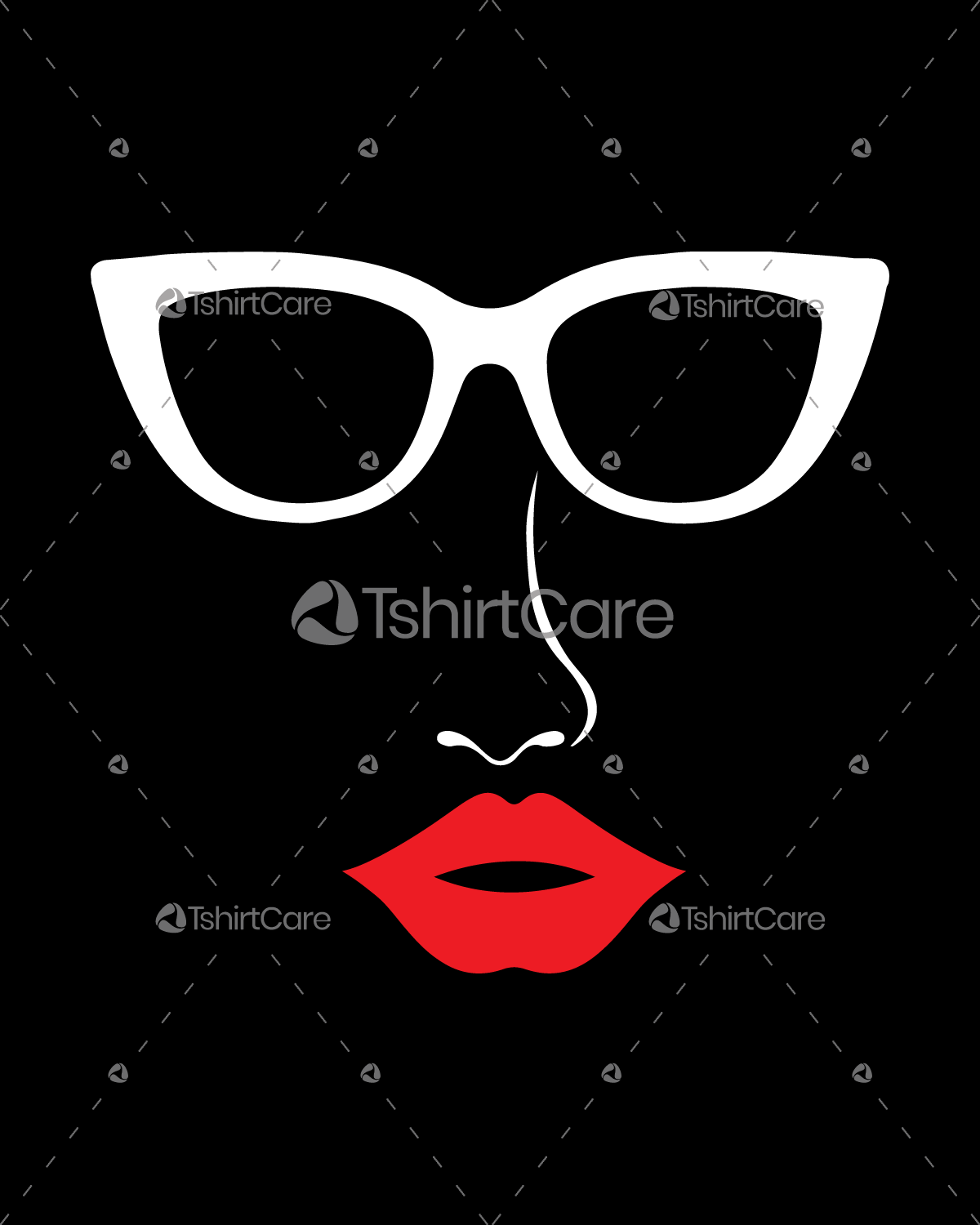 Glass nose lips Happy Valentine's Day T shirt Design