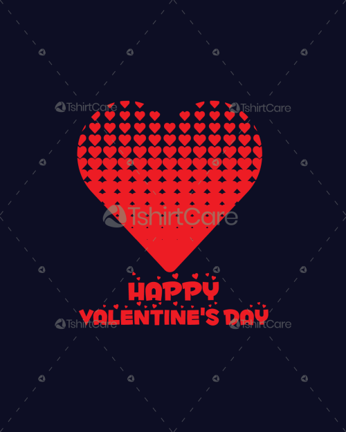 Happy Valentine's Day T-Shirt Design Gift for Boy & Girl