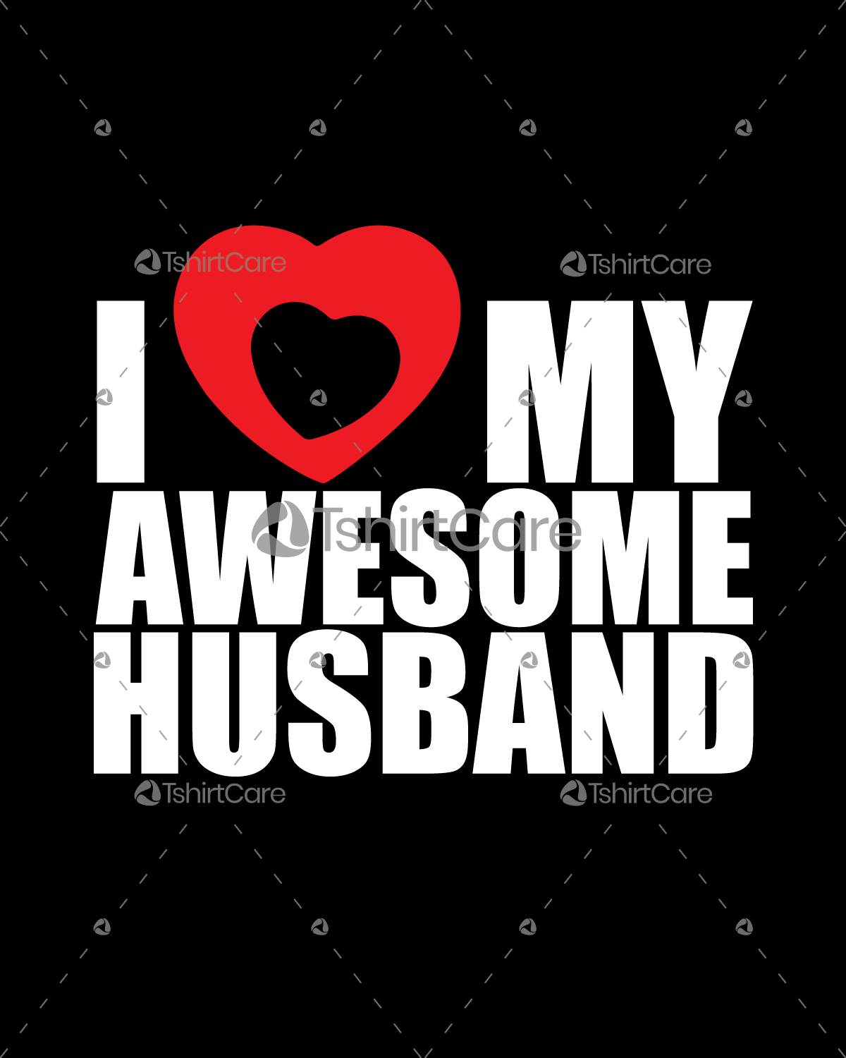 I love my awesome husband T shirt Design Valentines Day