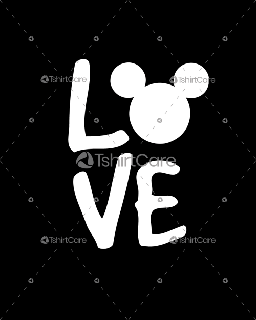 Love Minnie mouse T shirt Design for Valentines Gift