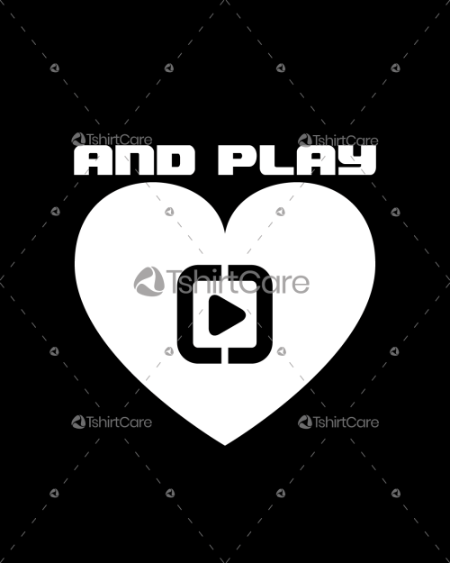 Love play Valentine's Day T Shirt Design for Gift