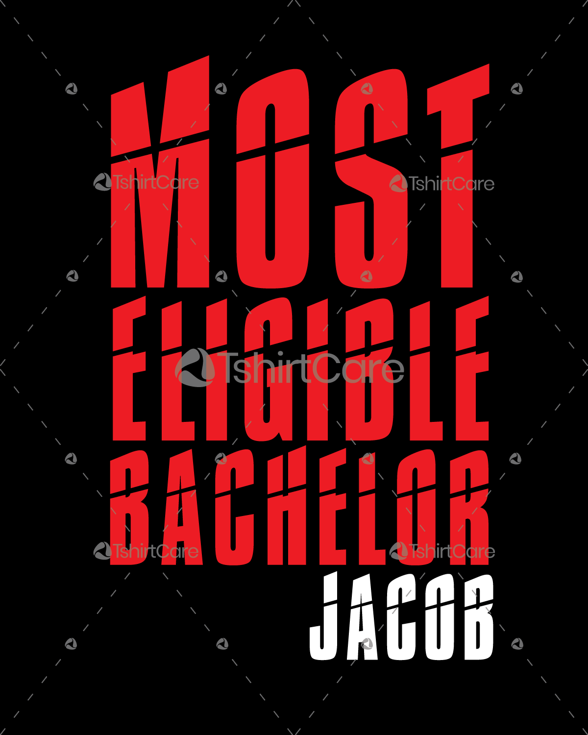 Most Eligible Bachelor Jacob T shirt Design for Gift