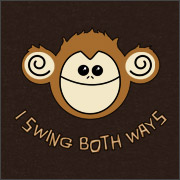 Monkey I swing both ways Shirt