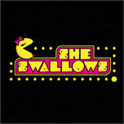 miss pac man she swallows parody spoof shirts