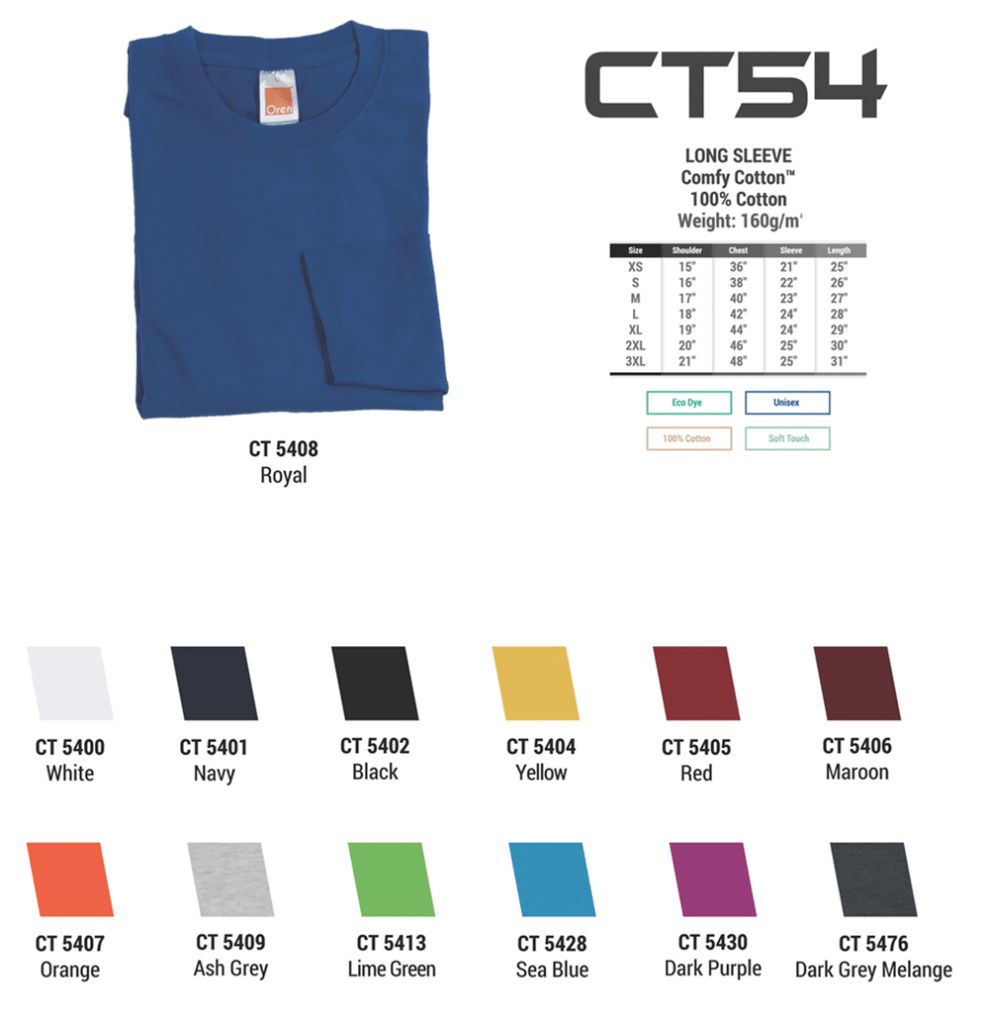 ct54 rounneck long sleeve