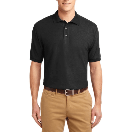 Short Sleeve Polo Shirt Black
