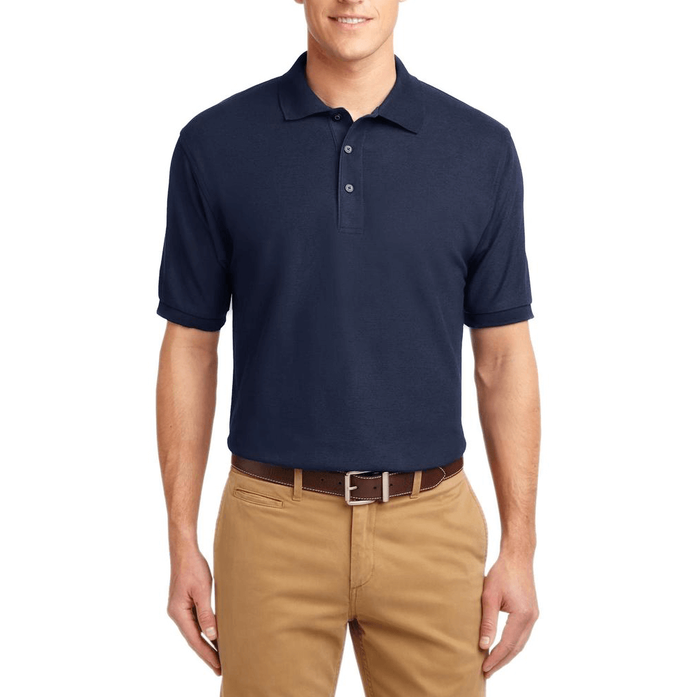 Short Sleeve Polo Shirt Navy Blue