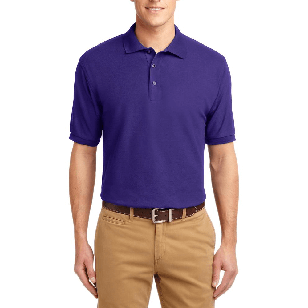 Short Sleeve Polo Shirt Purple