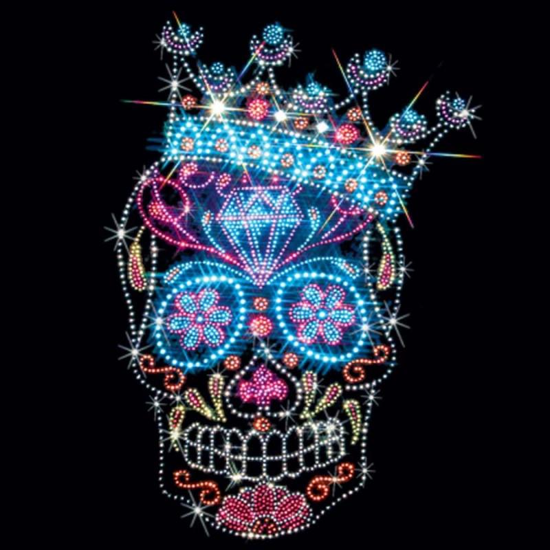 Rhinestone Crown Sugar Skull