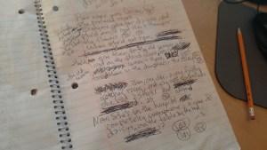Longhand writing