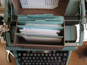 Typewriter and file cards